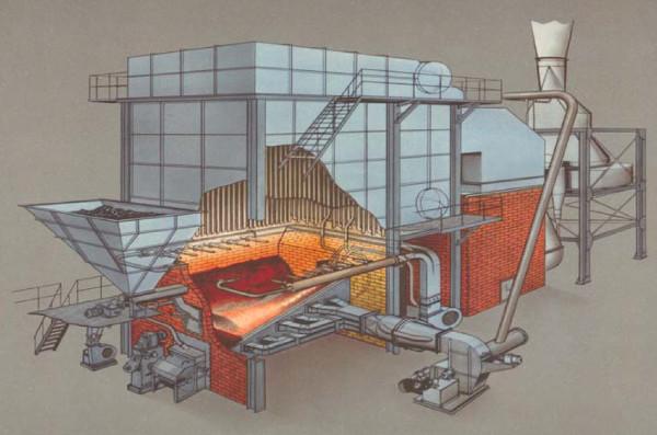 Ignifluid furnace BABCOCK & WILCOX boiler